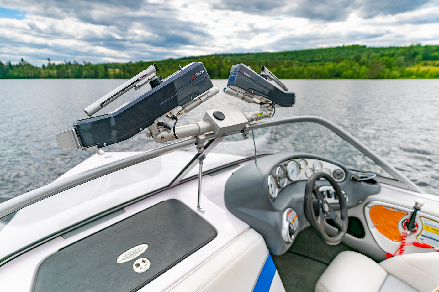 OffCourse™ - Water Ski Product Mounted on Boat